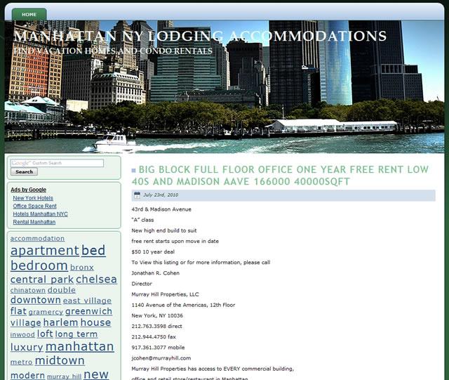 Manhattan Accommodation